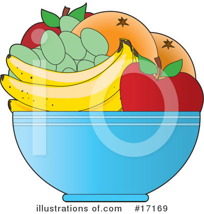 Fruit Bowl Clipart #17169 by Maria Bell