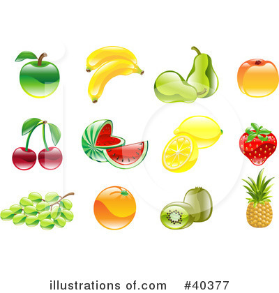 Peach Clipart #40377 by AtStockIllustration