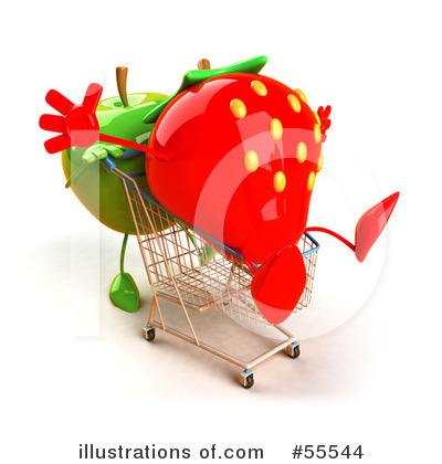 Strawberry Character Clipart #55544 by Julos