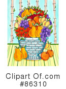 Royalty-Free (RF) Fruit Clipart Illustration #86310