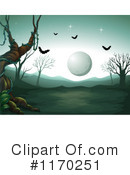 Royalty-Free (RF) full moon Clipart Illustration #1170251