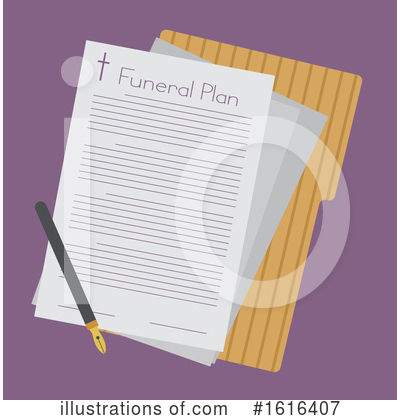Funeral Clipart #1616407 by BNP Design Studio