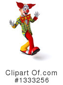 Funky Clown Clipart #1333256 by Julos