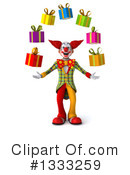Funky Clown Clipart #1333259 by Julos