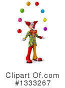 Funky Clown Clipart #1333267 by Julos