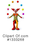Funky Clown Clipart #1333268 by Julos