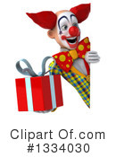 Funky Clown Clipart #1334030 by Julos
