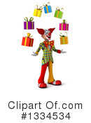Funky Clown Clipart #1334534 by Julos
