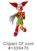 Funky Clown Clipart #1339470 by Julos