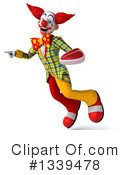 Funky Clown Clipart #1339478 by Julos
