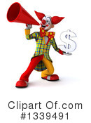 Funky Clown Clipart #1339491 by Julos