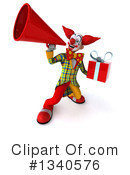 Funky Clown Clipart #1340576 by Julos