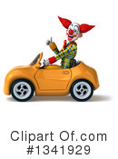 Funky Clown Clipart #1341929 by Julos