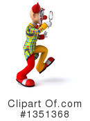 Funky Clown Clipart #1351368 by Julos