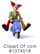 Funky Clown Clipart #1374018 by Julos