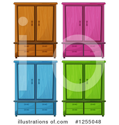 Royalty-Free (RF) Furniture Clipart Illustration by Graphics RF - Stock Sample #1255048