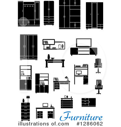 Furniture Clipart #1286062 by Vector Tradition SM