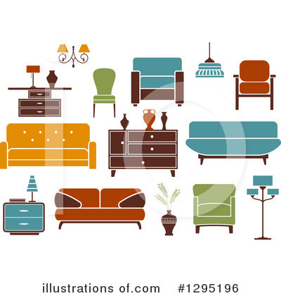 Furniture Clipart #1295196 by Vector Tradition SM
