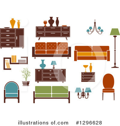 Furniture Clipart #1296628 by Vector Tradition SM