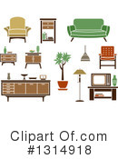 Furniture Clipart #1314918 by Vector Tradition SM