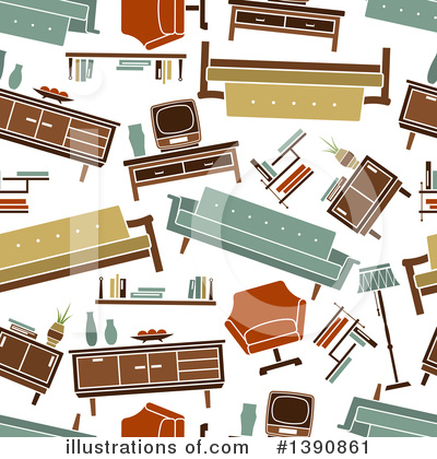 Furniture Clipart #1390861 by Vector Tradition SM