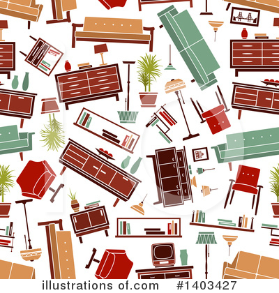 Royalty-Free (RF) Furniture Clipart Illustration by Vector Tradition SM - Stock Sample #1403427