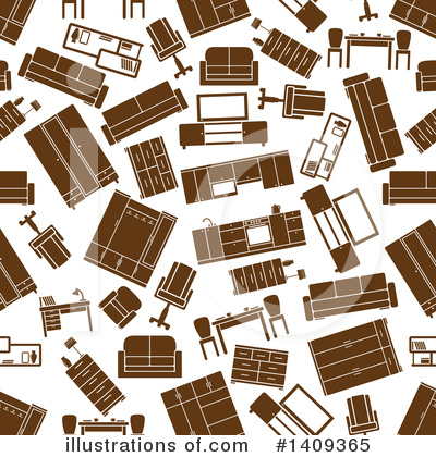 Furniture Clipart #1409365 by Vector Tradition SM