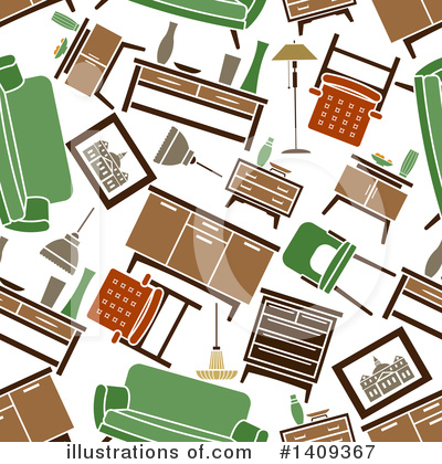 Furniture Clipart #1409367 by Vector Tradition SM
