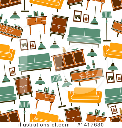 Furniture Clipart #1417630 by Vector Tradition SM