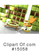 Royalty-Free (RF) Furniture Clipart Illustration #15058