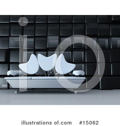 Royalty-Free (RF) Furniture Clipart Illustration by 3poD - Stock Sample #15062