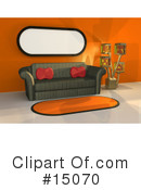 Royalty-Free (RF) Furniture Clipart Illustration #15070