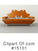 Royalty-Free (RF) Furniture Clipart Illustration #15101