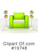 Royalty-Free (RF) furniture Clipart Illustration #19748