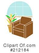 Royalty-Free (RF) Furniture Clipart Illustration #212184