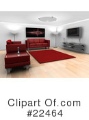 Royalty-Free (RF) Furniture Clipart Illustration #22464
