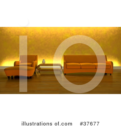 Royalty-Free (RF) Furniture Clipart Illustration by KJ Pargeter - Stock Sample #37677