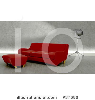 Royalty-Free (RF) Furniture Clipart Illustration by KJ Pargeter - Stock Sample #37680