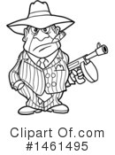 Gangster Clipart #1461495 by LaffToon