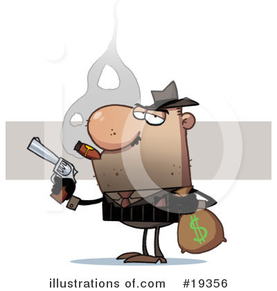 Gangster Clipart #19356 by Hit Toon