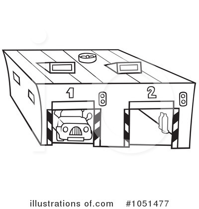 car garage coloring pages - photo#25