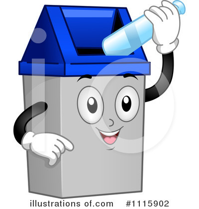 Royalty-Free (RF) Garbage Can Clipart Illustration by BNP Design Studio - Stock Sample #1115902