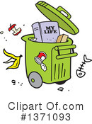 Garbage Clipart #1371093 by Johnny Sajem