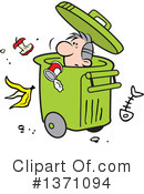 Garbage Clipart #1371094 by Johnny Sajem
