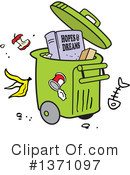 Garbage Clipart #1371097 by Johnny Sajem