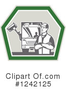 Garbage Man Clipart #1242125 by patrimonio