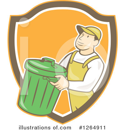Garbage Can Clipart #1264911 by patrimonio
