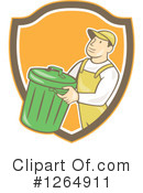 Garbage Man Clipart #1264911 by patrimonio