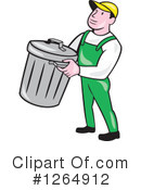Garbage Man Clipart #1264912 by patrimonio