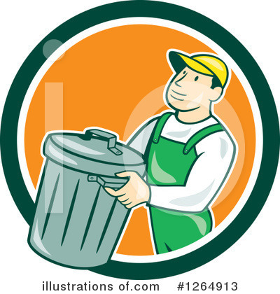 Garbage Can Clipart #1264913 by patrimonio